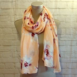 Accessories - 4/$30 🌷 Pastel Salmon Floral Printed Scarf